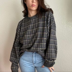 Vintage Chunky Sweater in Gray